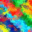 Abstract rainbow colorful watercolor swirl art background grunge pattern — Stock Photo
