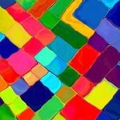 Abstract painting colorful mozaic geometric pattern background — Stock Photo