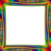 Abstract rainbow frame colorful background illustration — Stock Photo