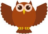 Icon vector Owl — Stock Vector