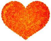 Farby sztuka miłości serca ilustracja na białym tle — Zdjęcie stockowe