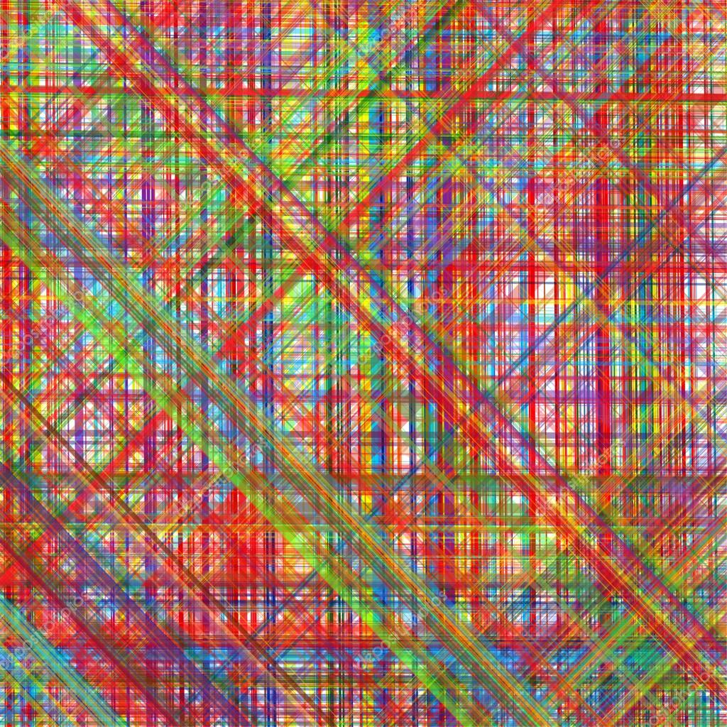 Abstract art rainbow curved diagonal lines color ...