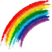 Art rainbow colors brush stroke paint background — Stock Photo