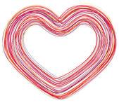 Art abstract heart line vector background — Stock Vector