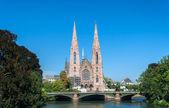 Eglise saint-paul, à strasbourg, france — Photo