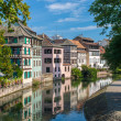 Canal in Petite France area, Strasbourg, France — Stock Photo