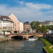 Canal in Strasbourg sity center, France — Stock Photo
