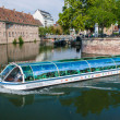 Excursion river bus in Strasbourg, France — Stok fotoğraf