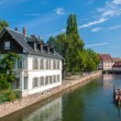 Canal in Petite France area, Strasbourg, France — Stock Photo #12652562