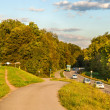 Stock Photo: Highway in a forest. Germany, Baden-Wurttemberg