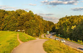 Highway in a forest. Germany, Baden-Wurttemberg — Stock Photo