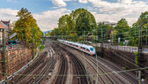 High-speed train in Offenburg, Germany — Stock Photo