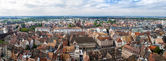 View of Strasbourg from a roof of the cathedral — Stock Photo
