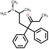 Fórmula estrutural do methadon — Vetor de Stock
