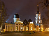 Odessa Orthodox Cathedral at night — Fotografia Stock