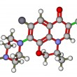 Stock Photo: Antibiotic ofloxacin molecular structure