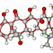 Stock Photo: Antibiotic tetracycline molecular structure