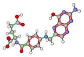 Folic acid molecular model — Stock Photo