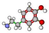 Dopamine molecular structure — Stock Photo