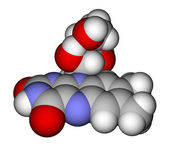 Riboflavin space-filling molecular model — Stock Photo