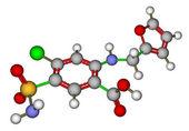 Struttura molecolare di furosemide — Foto Stock