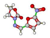 Antibacterial furazolidone molecular structure — Stock Photo