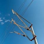 Railway overhead contact system — Stock Photo #13367091