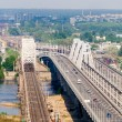 View of the left bank of Dnieper from a hill on the right bank — Stock Photo #13367226