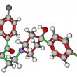 Antipsychotic haloperidol molecular structure — Stock Photo