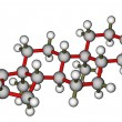 Stock Photo: Androsterone, male sex hormone. Molecular model