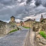 Entrance of Kamianets-Podilskyi Castle. Ukraine. HDR image — Stock Photo #13367431