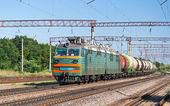 Freight train with liquid cargo in Ukraine — Stock Photo