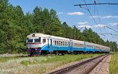 Suburban electric train in Ukraine — Stock Photo
