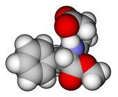 Aspartame space filling molecular model — Stock Photo