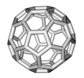 Fullerene C60 sticks molecular model — Stock Photo