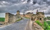 Entrance of Kamianets-Podilskyi Castle. Ukraine. HDR image — Stock Photo