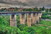 Old bridge in Kamianets-Podilskyi, Ukraine. HDR image — Stock Photo