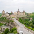 Kamianets-Podilskyi Castle. View from the Old Town. Ukraine — Stock Photo