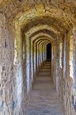 Passage in het kamianets-mohelerpodolsc-kasteel — Stockfoto