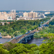 View of Left Bank of Dnieper in Kiev, Ukraine - Stock Photo