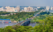 View of Left Bank of Dnieper in Kiev, Ukraine — Stock Photo