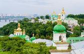 Vue de la laure de petchersk, le monastère orthodoxe inclus dans — Photo