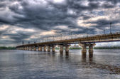 Paton Bridge across the Dnieper river. Kiev, Ukraine — Stock Photo
