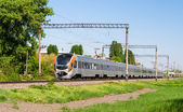 Modern fast passenger train in Ukraine — Stock Photo