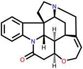 ストリキニーネ、筋肉 convuls 毛馬非常に有毒のアルカロイド — ストックベクタ