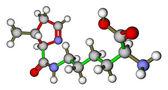 Amino acid pyrrolysine 3D molecular structure — Stock Photo