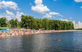At a beach. Recreation in Kiev, Ukraine — Stock Photo