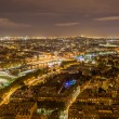 Paris and the Seine as seen from the Eiffel Tower. France — Stock Photo