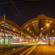 Strasbourg railway station at night. Alsace, France — Stock Photo