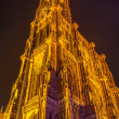 View of Strasbourg Cathedral from ground. Alsace, France — Stock Photo